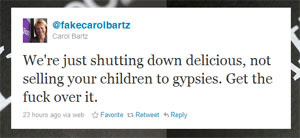 We're just shutting down delicious, not selling your children to gypsies. Get the f-ck over it.