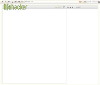 Lifehacker.com home page with JavaScript disabled.