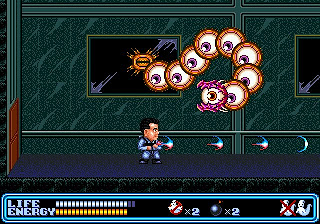 It's not a proper retro game if it doesn't have a centipede boss.