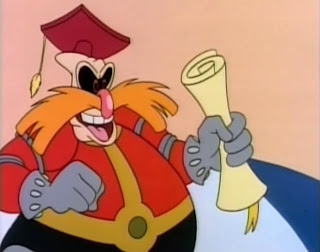 The Robotnik from the first Sonic cartoon is still hilarious.