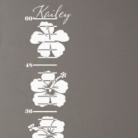 Hibiscus growth chart decal