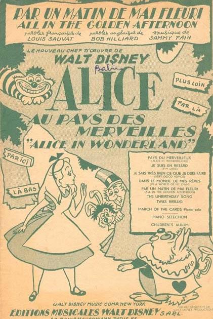 alice in wonderland pdf sheet music