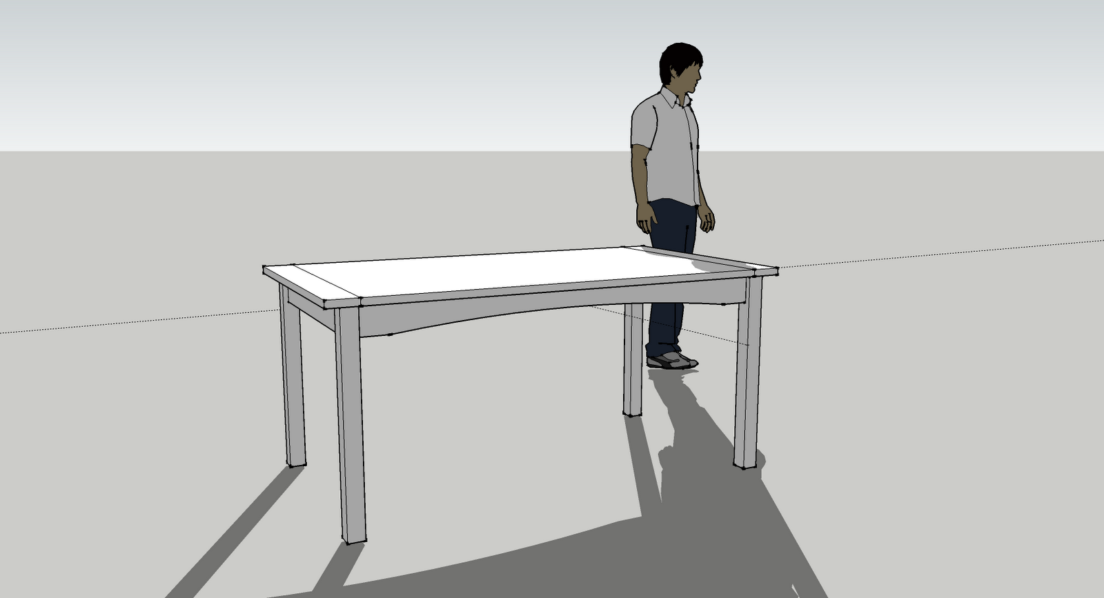 Butt joints and pocket holes maple dining room table for Table joints