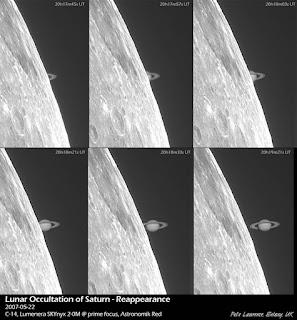 Ocultación de Saturno por la Luna 22/05/2007 I