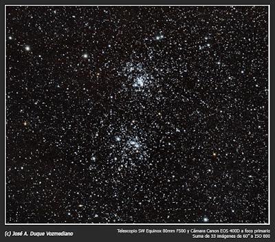 Doble cúmulo de Perseo (NGC 884 y NGC 869)