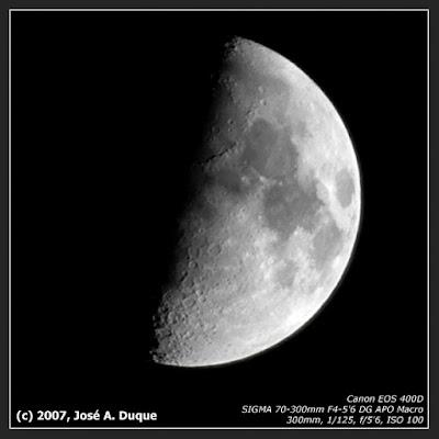 La Luna el 19/10/2007