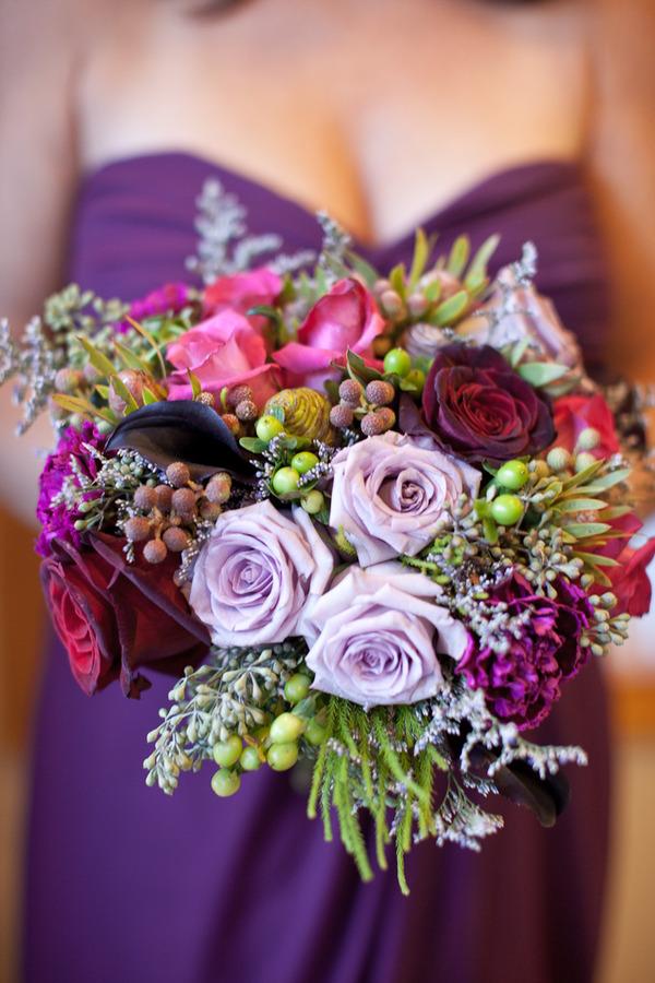 Plum Eggplant Fuchsia PURPLE Wedding Flowers