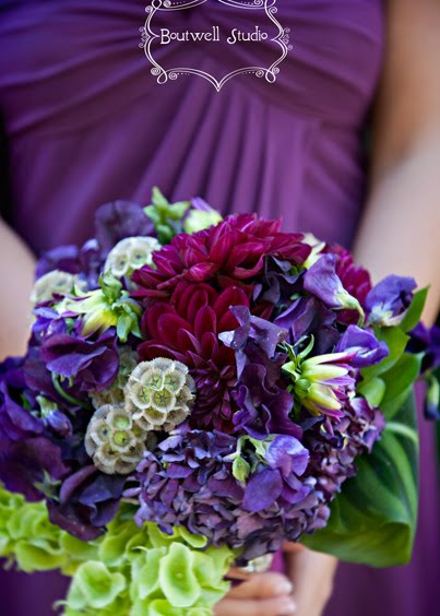 Plum, eggplant, fuchsia, PURPLE wedding flowers! | Erin Volante Floral