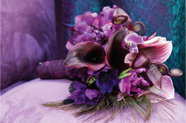 Purple Flowers For October Wedding : Plum eggplant fuchsia purple wedding flowers erin