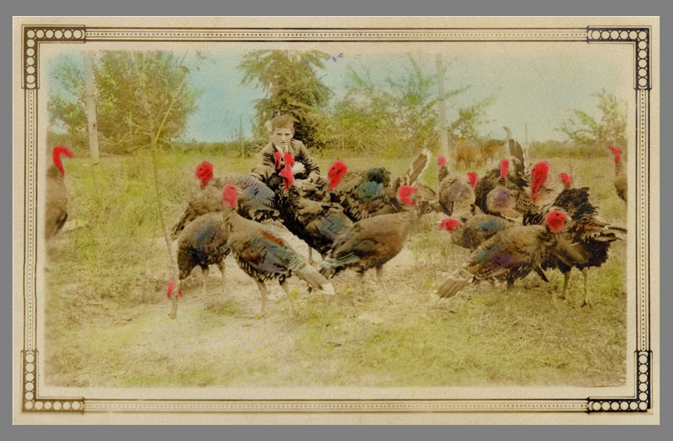 Here's an example from the 1930s of amateur colorizing gone wild.