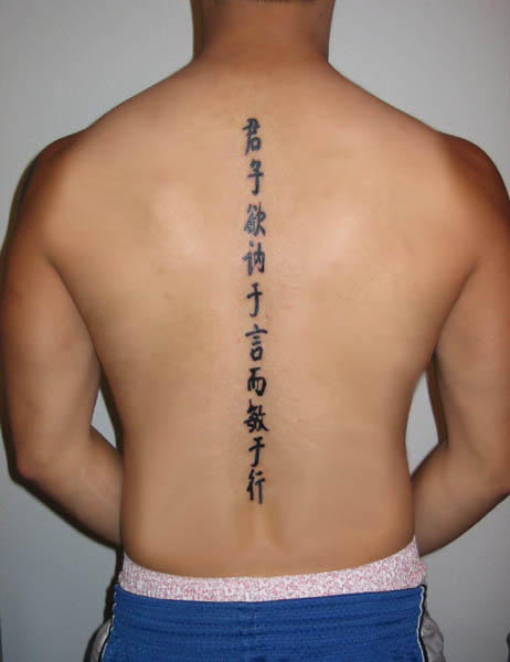chinese writing for tattoos Chinese characters tattoo: latest trend calligraphy style tattoos of chinese calligraphy characters on bodies of famous players becomes some kind of fashion, as david beckham tattoo calligraphy.