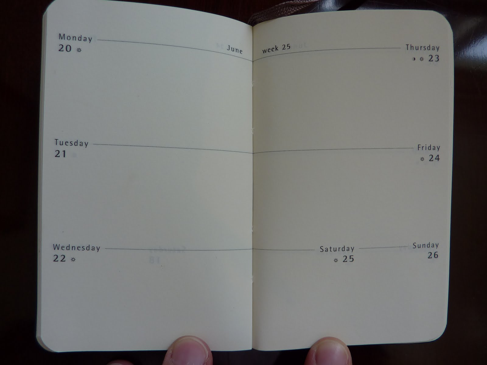 Image Gallery moleskine calendar pages