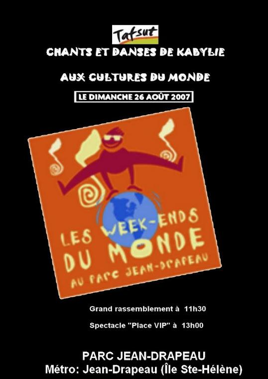 Tafsut au Mondial des Cultures de Drummondville