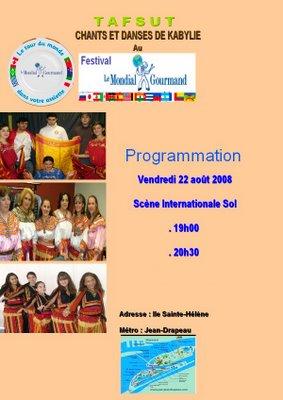 TAFSUT AU FESTIVAL MONDIAL GOURMAND