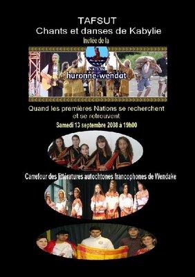 TAFSUT CHEZ LA NATION HURONNE