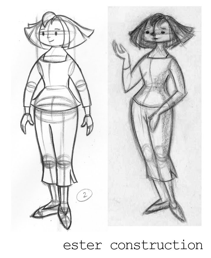 Creamers character design and the why of turnarounds i had no idea if my character could move in perspective and because she had no construction i couldnt start animating until i had the blueprint to draw her malvernweather Image collections