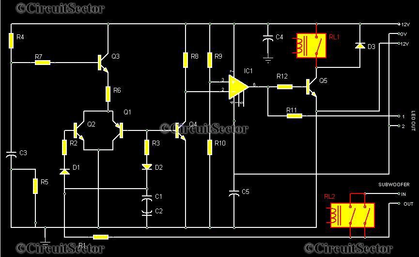 500w Sound Amplifier Circuit Diagram