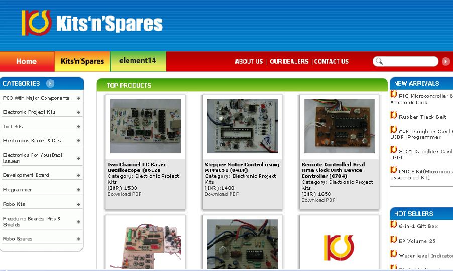 Online electronic components shopping india