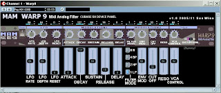 Cubase MIDI panel for MAM WARP 9