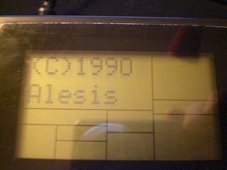 Alesis SR-16 boot screen
