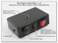 PT1025: Pre-Trigger Control Box 1 x 2 - Disconnect Switch, Manual Tripper, Under Camera Mounting