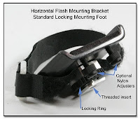 PJ1008: Horizontal Flash Bracket - Standard Locking Foot