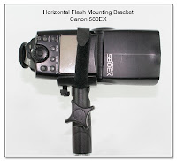 PJ1010: Horizontal Flash Bracket - Canon 580EX Mounted