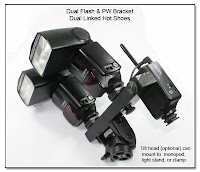DF1022: Dual Flash Bracket - Monopod Version