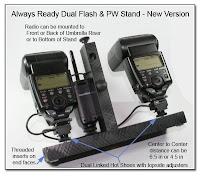DF1013: Always Ready Dual Flash & PW Stand - New Version (flash units and PW not included)