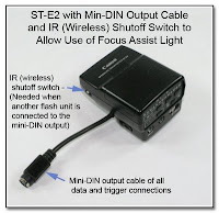 OC1007: ST-E2 with Mini-DIN Output Cable & IR Shutoff Switch