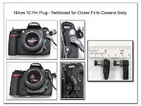 CP1063: Nikon 10 Pin Plug - ReMolded for Closer Fit to Camera Body