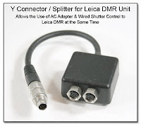 Y Connector / Splitter for Leica DMR Unit - Allows the Use of AC Adapter and Wired Shutter Control to Connect to Leica DMR at the Same Time
