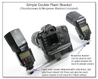 DF1011: Simple Double Flash Bracket - Thumbscrews and Neoprene Washers Included