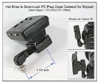 HS1007: Hot Shoe to ScrewLock OC Plug Close Connect for Skyport - Semi-Rigid 1.375 inch CTC Offset