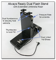 DF1018: Always Ready Dual Flash & PW Stand - Extended Umbrella Riser