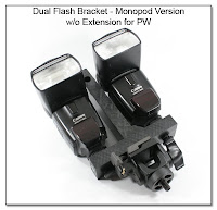 DF1026: Dual Flash Bracket - Monopod Version without Extension for PW