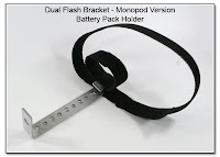 DF1031a: Battery Pack Holder - Dual Flash Bracket - Monopod Version