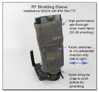 RF Shielding Sleeve - Installed on Canon 580EX Flash Unit with PW FlexTT5