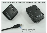 PT1007: Skyport Radio Set to Trigger Nikon D90 using a Custom Pre-Trigger Cable