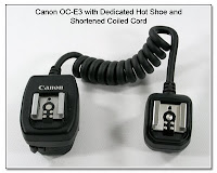 OC1016b: Canon OC-E3 with Dedicated Hot Shoe and Shortened Coiled Cord