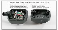 OC1014B: Long Screw & Epoxy Reinforcement Mod - Inside View