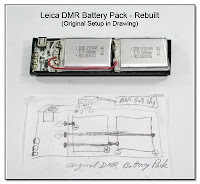 SC1059A: Leica DMR Battery Pack Rebuilt with New Li-Ion Polymer Cells