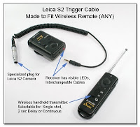 PT1028: Leica S2 Trigger Cable Made to Fit Wireless Remote