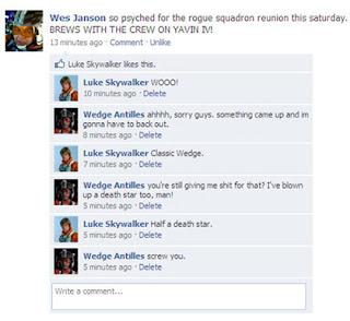 Star Wars Facebook_Wes Janson brews Yavin IV