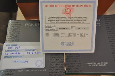 panerai serial number