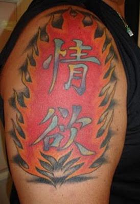 Chinese Kanji sleeve Tattoo