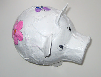 papermache pig by surf jewels handmade jewellery