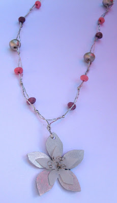 handmade flower pendant by surf jewels handmade jewellery