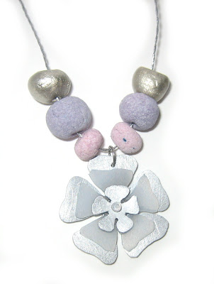 handmade flower layered pendant by surf jewels handmade jewellery