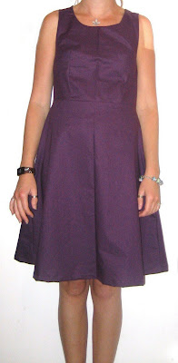 dress handmade, dress, plum, work, business, office, sewing, fabric, pattern, coffee date dress